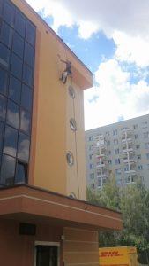 Malowani elewacji na wysokości